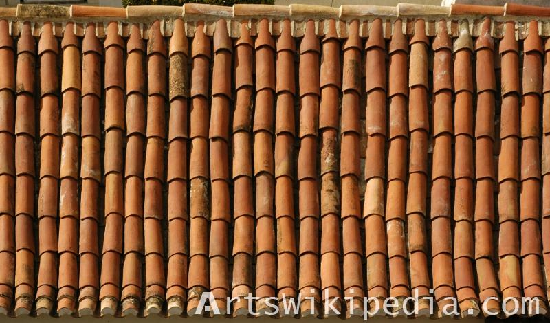 roof tiles texture map
