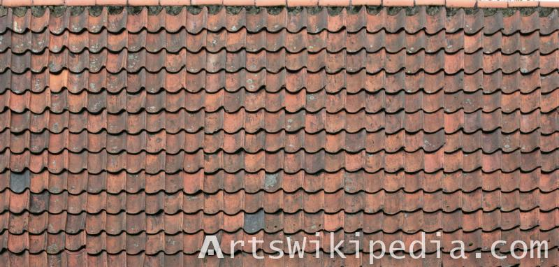 dirty old roof albedo material