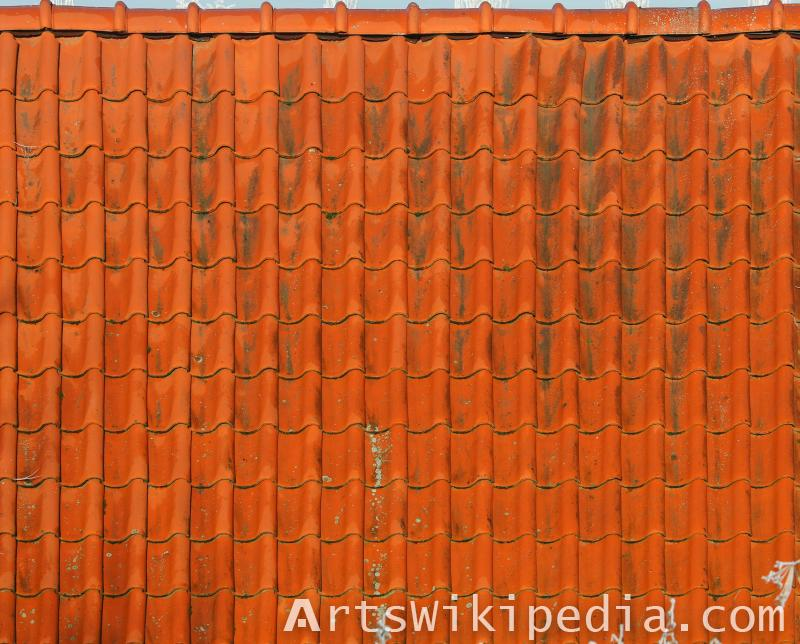 dirty red roof albedo texture