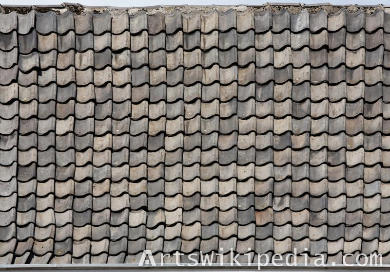dirty roof tiles diffuse texture
