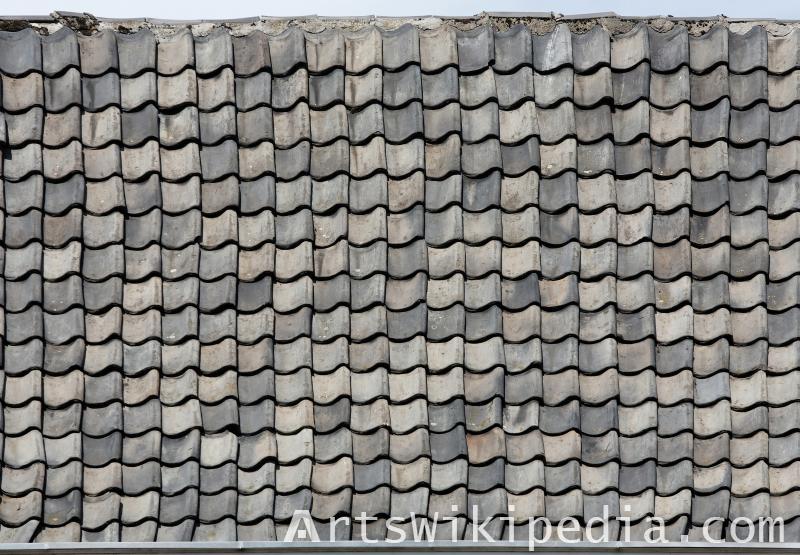 dirty roof tiles albedo texture