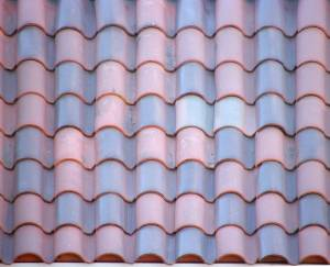 blue-and-red-ceramic-roof-texture