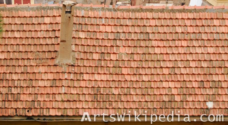 old broken house roofing texture