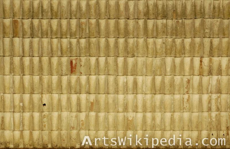 old yellow roof albedo texture