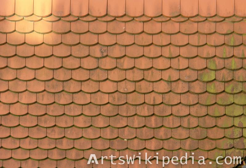 hex tile ceramic roof texture