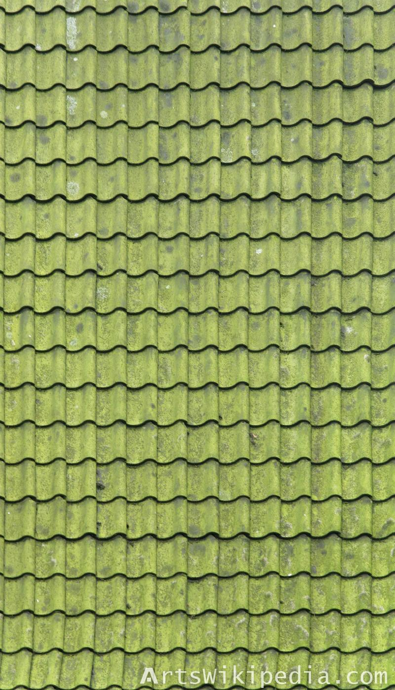free green ceramic roof texture