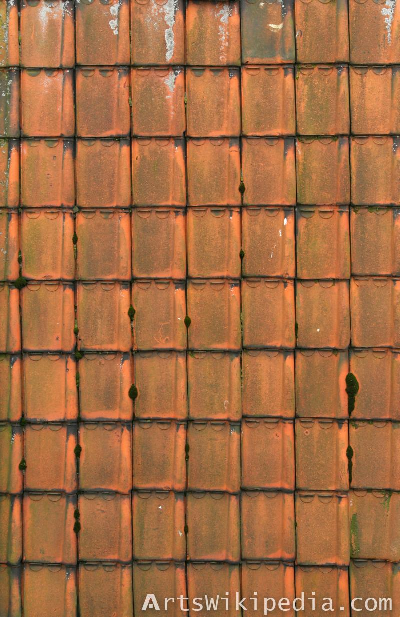Albedo map roofing texture