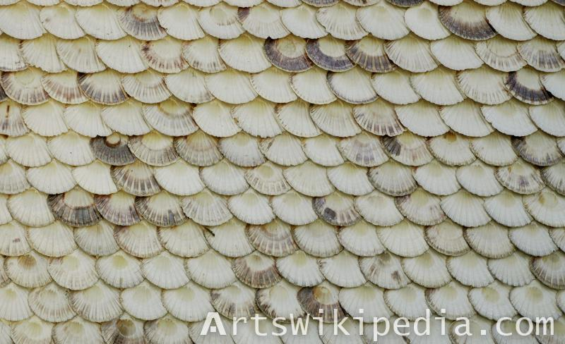 shell shingle roofing texture