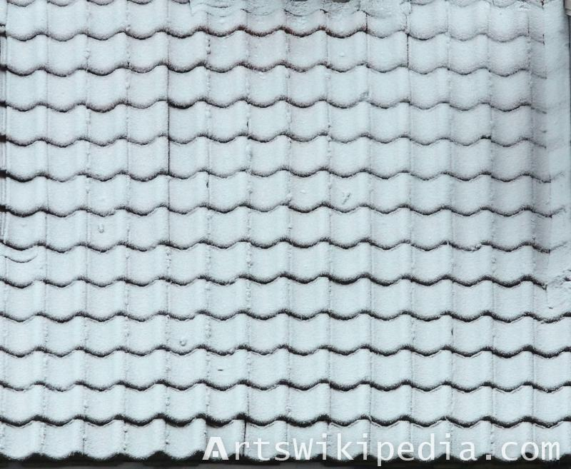 gray ceramic roof albedo map