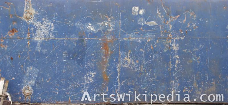 Blue metal scratch texture