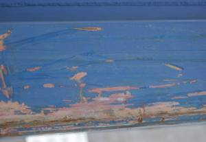 blue painted scratched metal albedo material