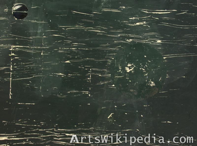 scratched dark metal material