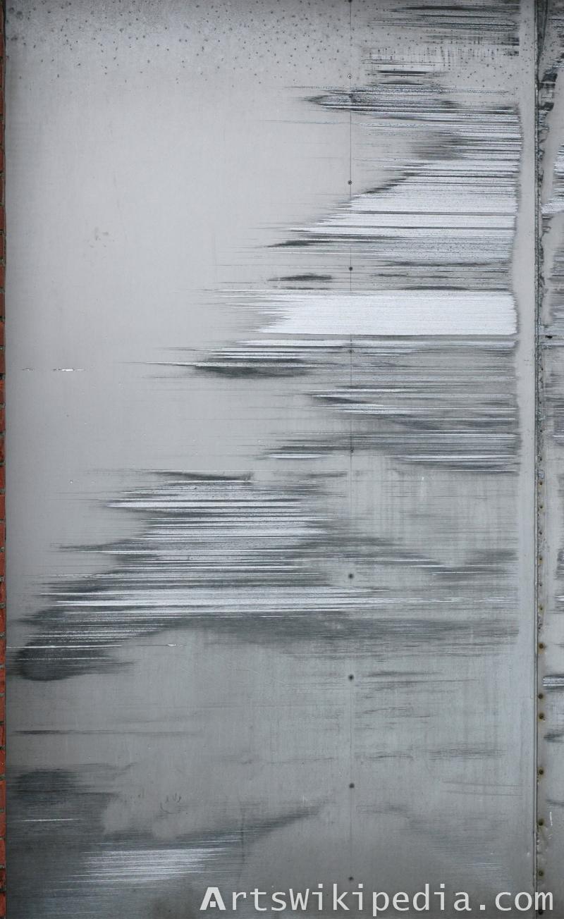 sliding scratched metal texture