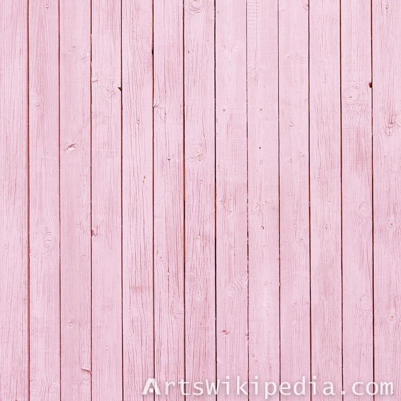 pink painted planks wood