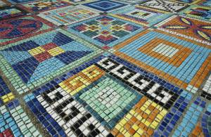 mosaic ground art