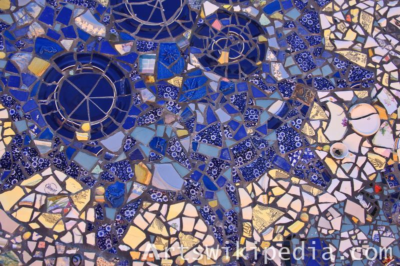dark blue mosaic