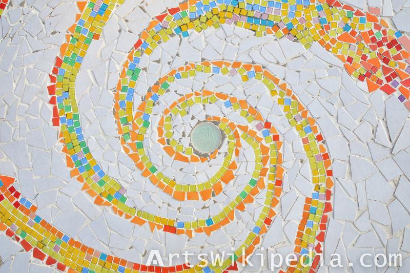 spiral mosaic texture