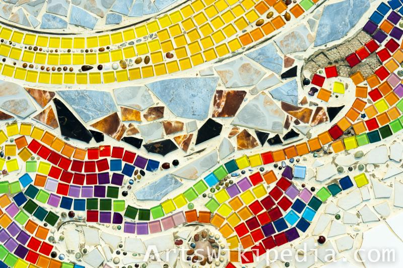 abstract colorful  mosaic texture