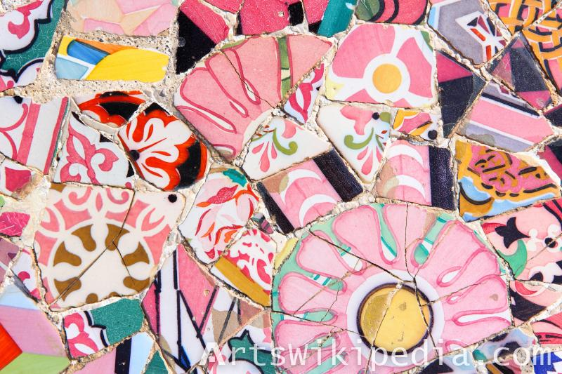 flower mosaic texture
