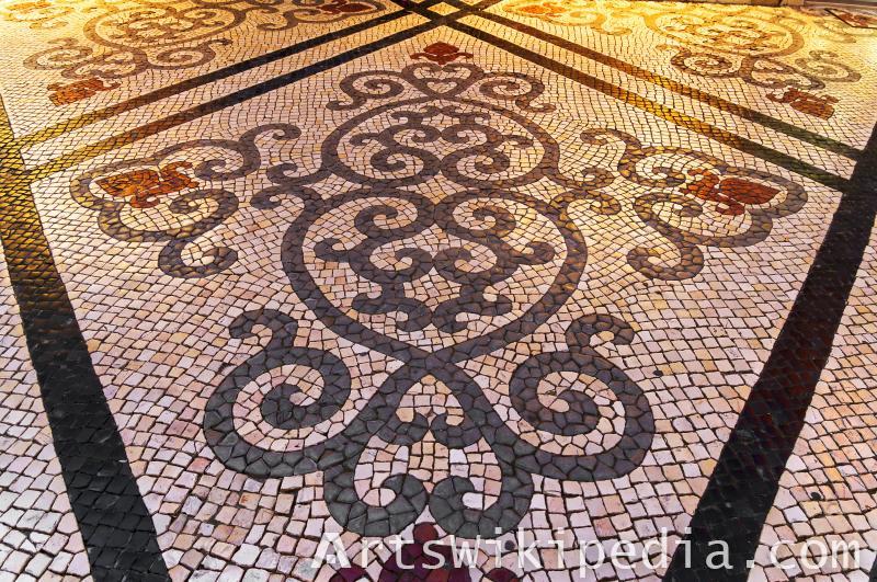 floor mosaic art texture