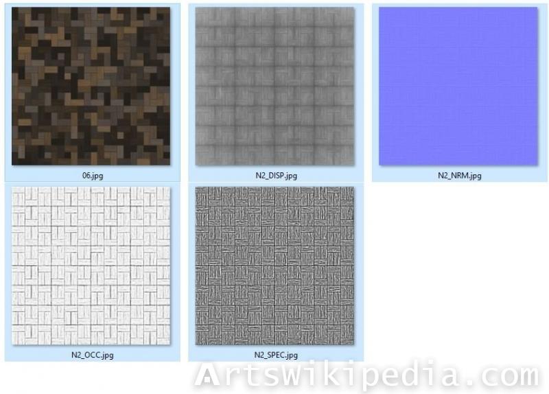 Dark Floor Tiles Textures