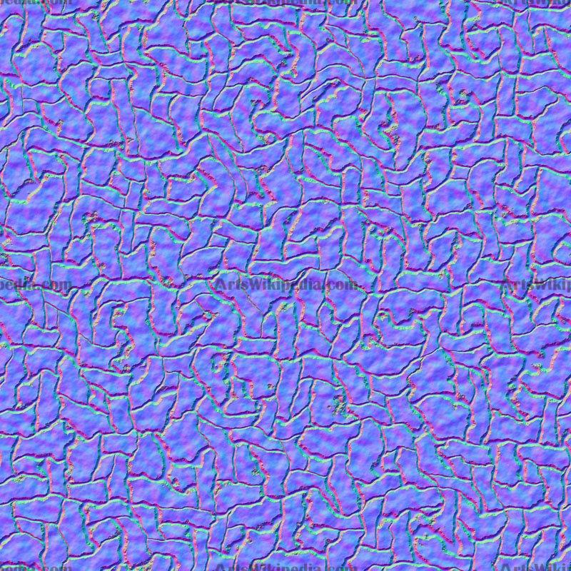 Seamless reptile leather normal map