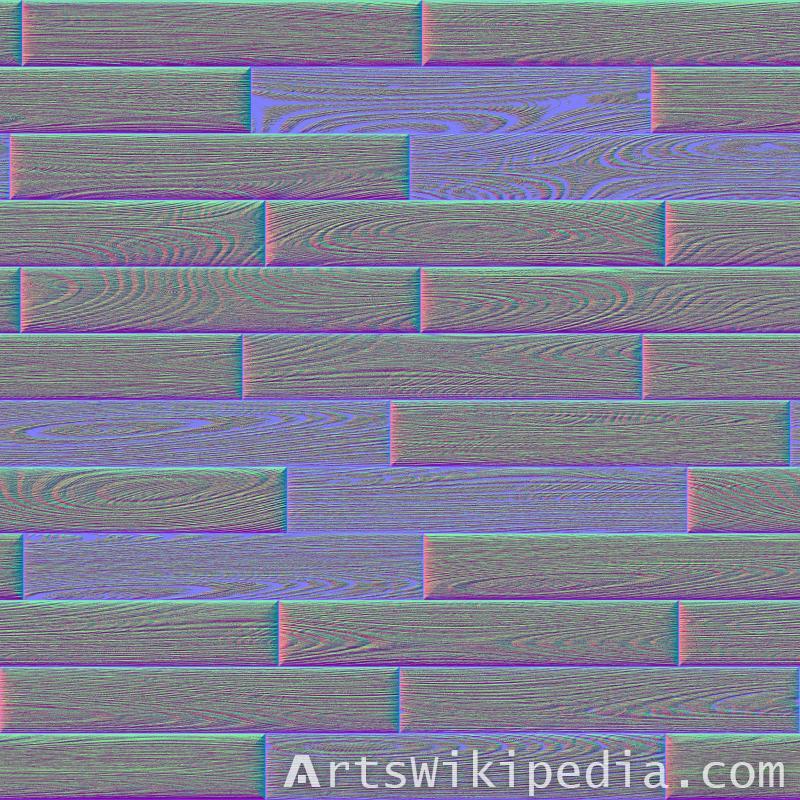 wood tiles normal map