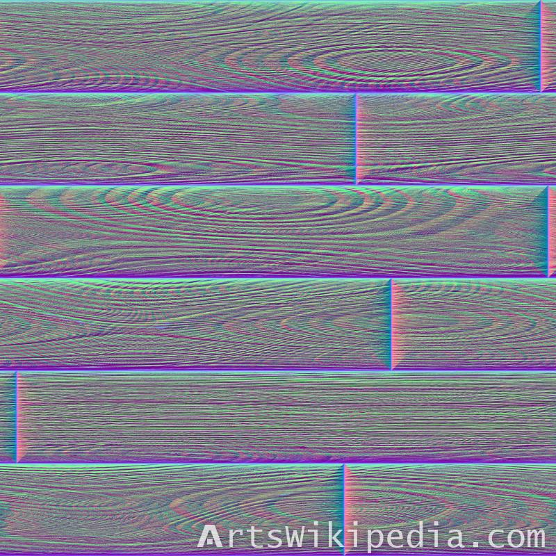 seamless wood tile normal map