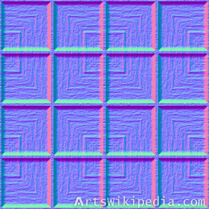 wood pattern light map