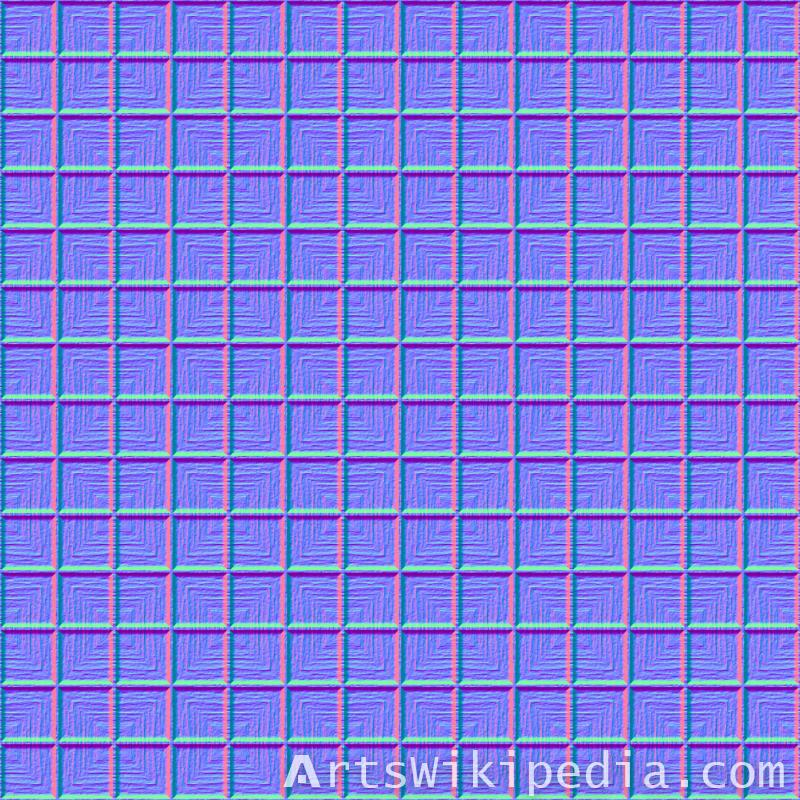 wood square pattern normal map
