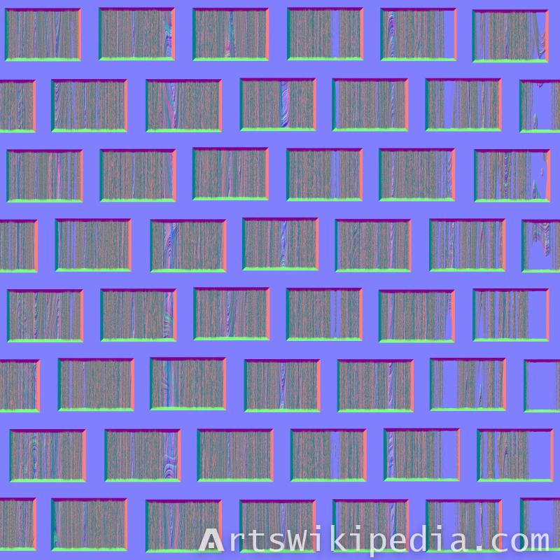 normal map wood wall