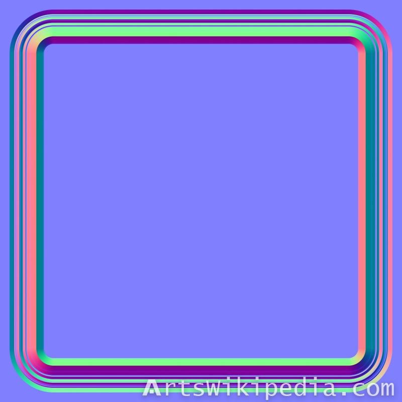 free square wood pattern normal image