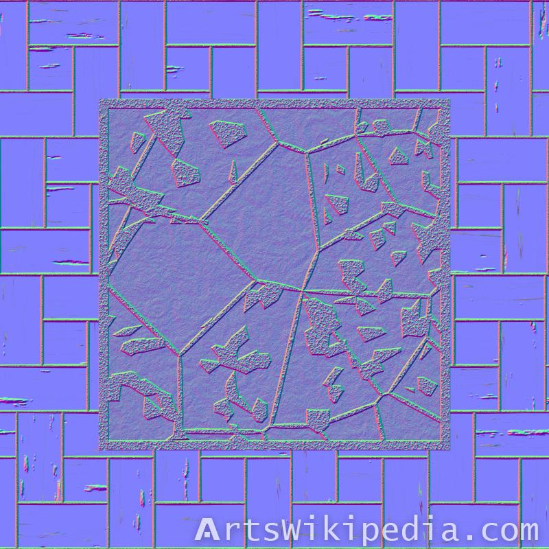 wood art normal map