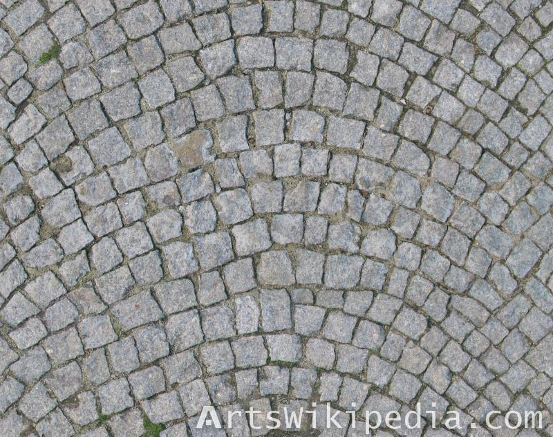 cobblestone pavement road