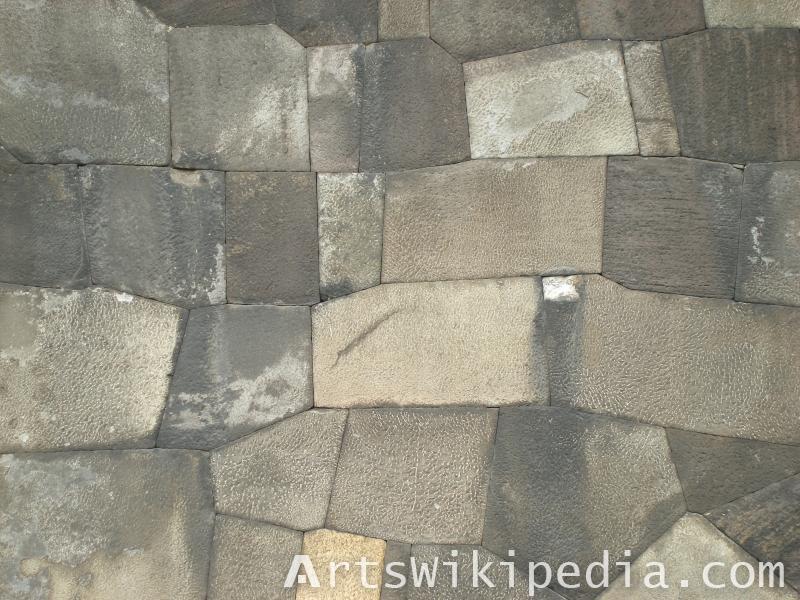 irregular pavement stones texture
