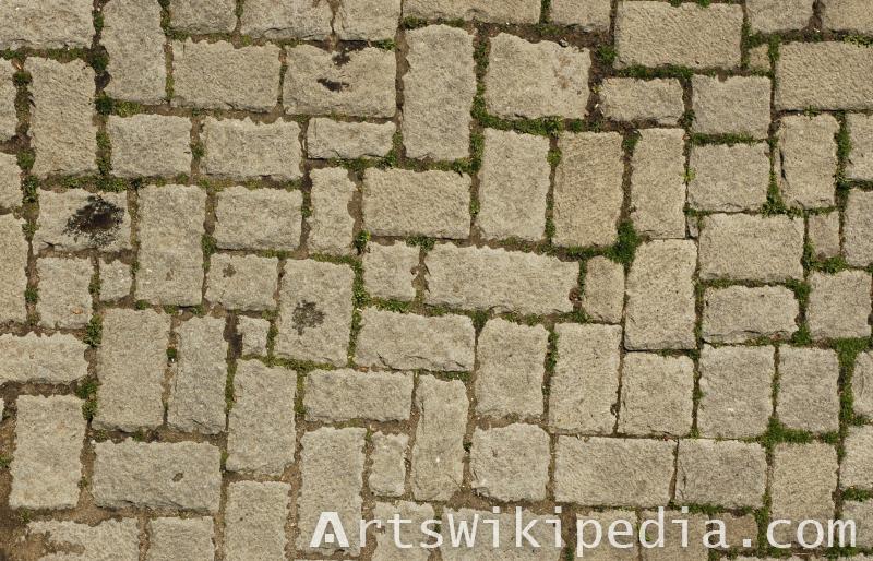 texture of pavement stone
