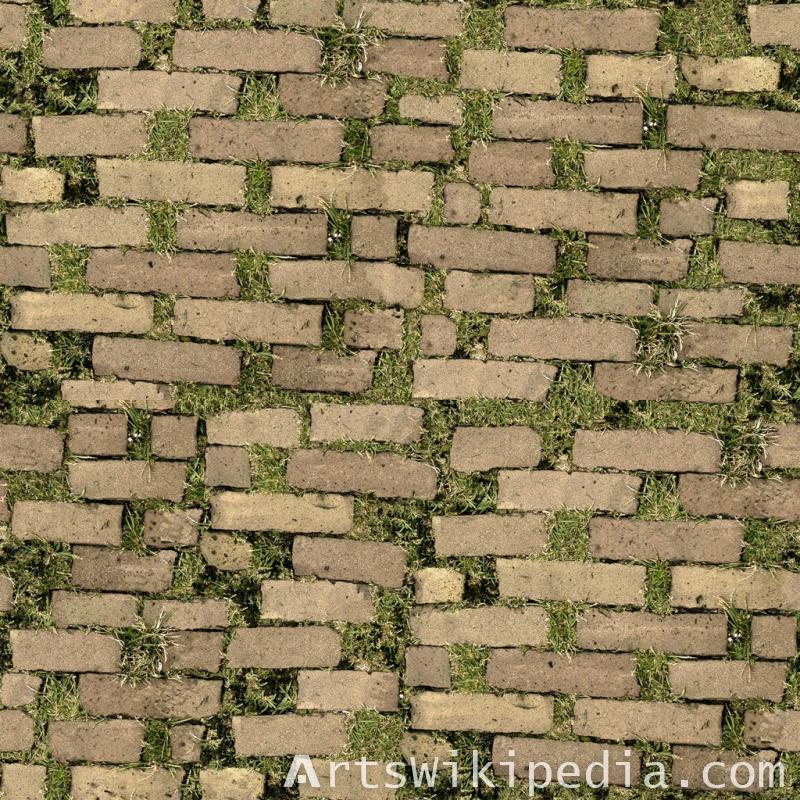 brown pavement on grass texture