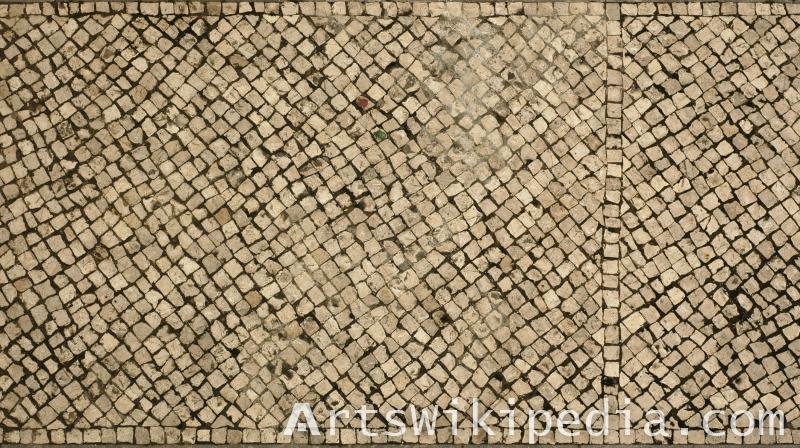 pavement irregular stone texture