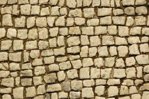 cobblestone pavement irregular