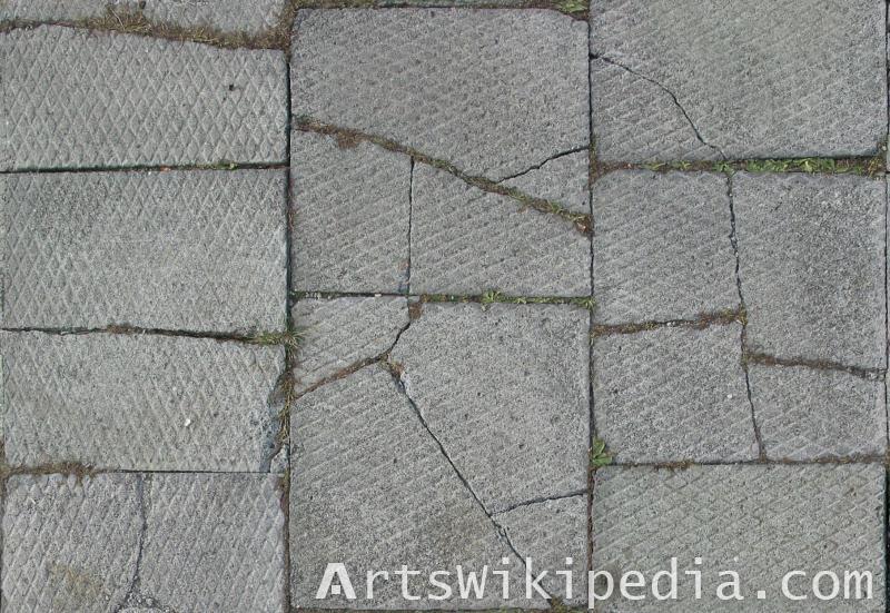 broken pavement texture