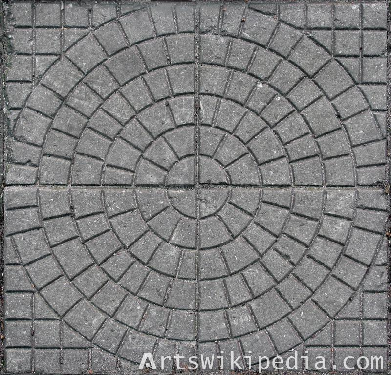 concrete pavement circle