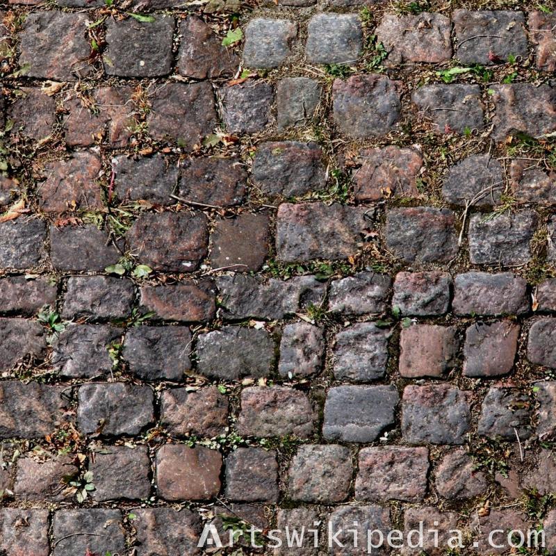pavement stone dirty