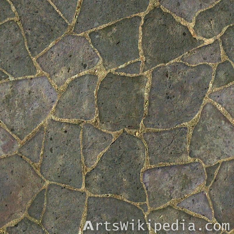 free black cobblestone pavement texture