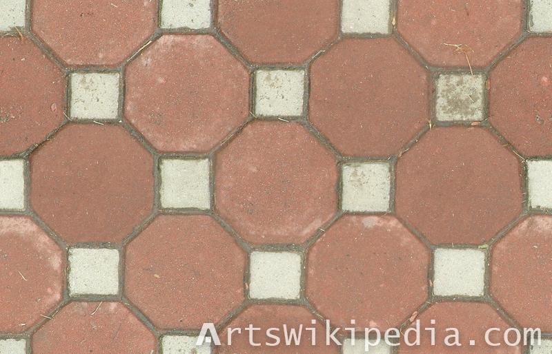 octa tiled pavement texture