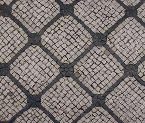 Diamond tiled pavement