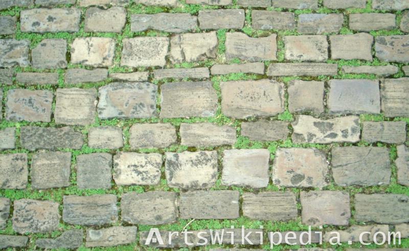 pavement stone over grass