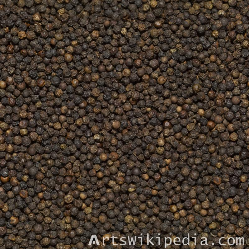 Seamless Black Pepper Texture