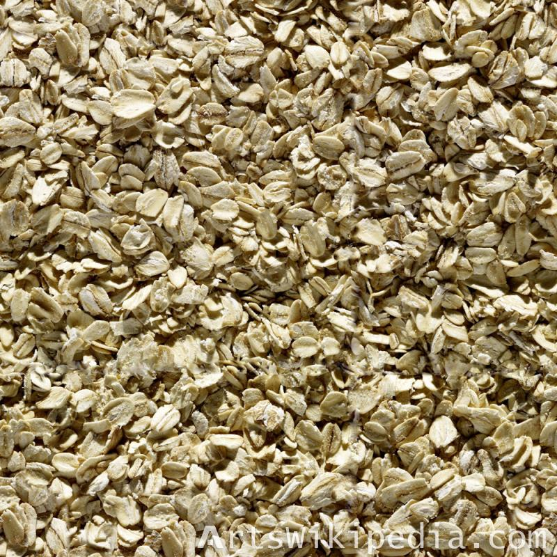 Seamless rolled oats Texture