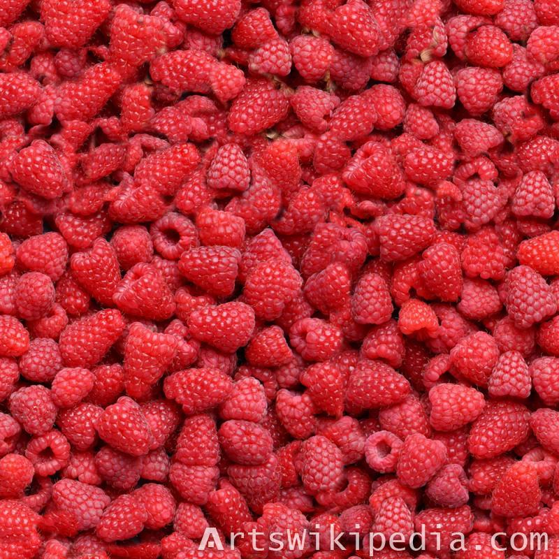 Seamless raspberry texture