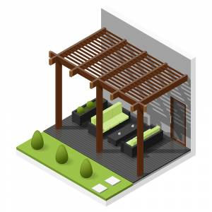 Isometric Outdoor seating